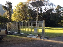 Magnetic's solar powered MCG cantilever gate installed at rural dam site