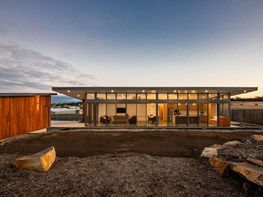 A minimalist beach shack in remote Tasmania
