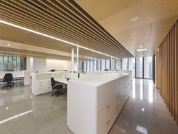 Supawood certified fire retardant timber linings co-ordinated for prized building