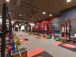 Supawood UK creates branded gym with slatted products