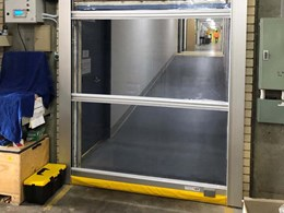 Fully automated rapid roll door replaces swing doors at Sydney Water