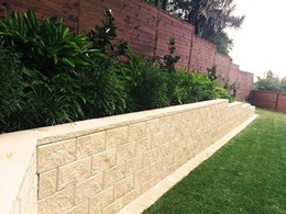 Tasman block retaining wall system designed for Australian conditions