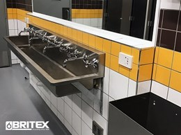 South Pine Sporting Complex features vandal resistant sanitary fixtures by Britex