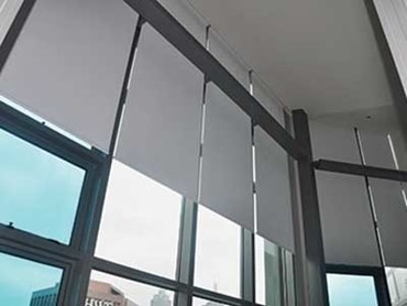 Roller Blinds Providing Heat And Glare Control At