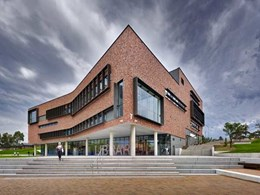 Red bricks from PGH maintain visual consistency at Western Sydney University Library