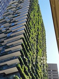 Tensile cable system supports One Central Park vertical gardens