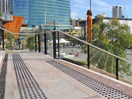 Ground surface warning tactiles ensuring safety at Perth's Yagan Square