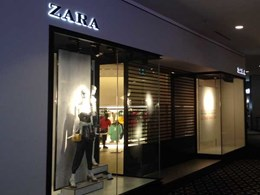 KRGS Series 3 shutters go up on new ZARA retail store in Chatswood NSW