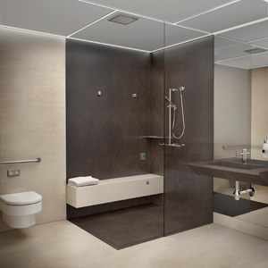 building blocks of a modern bathroom architecture and design