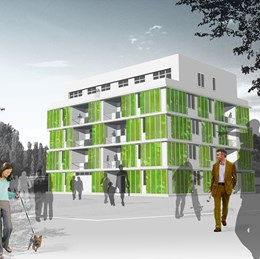 Energy producing micro algae facades set for production