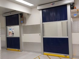 DMF high speed roller doors for hygienic areas