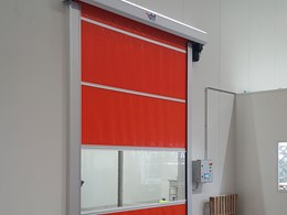 DMF Series RL3000 rapid roll doors delivering energy savings, safety and efficiency