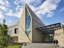 Brick roof and walls deliver spectacular impact at chapel on Wesley College campus