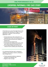 Fire performance of G2: Liverpool Papermill fire case study