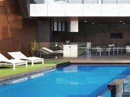 Seamless indoor outdoor flow achieved with Outdure ResortDeck