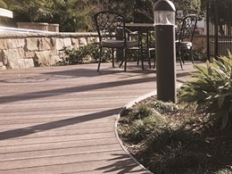 Curved deck made from QwickBuild and ResortDeck at Bronte aged care facility