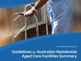 Falls prevention: Guidelines for Australian residential aged care facilities