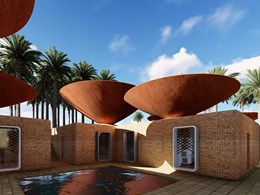 Architects design innovative 'bowl' roofs for rainwater collection