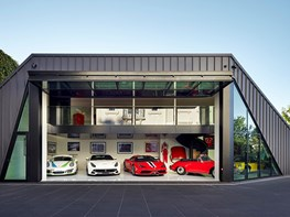 Slick garage designed for fast cars