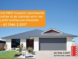 First domestic WWTP manufacturer to receive Australian Standard certification