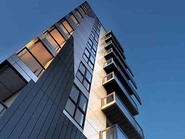 Melbourne's nine-storey One9 apartment complex was constructed in just five days. Images: Supplied