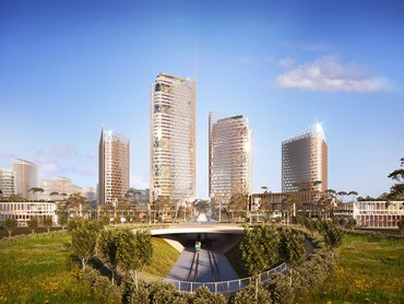 An $8 billion mixed use proposal– with the potential to create 140,000 total jobs, has been proposed for the city's west. Image: Supplied