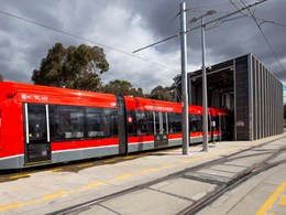 Composite timber panels provide aesthetic screening along Canberra Metro track