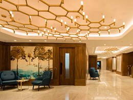 Nemo's Crown chandeliers light up London's Royal Lancaster Hotel