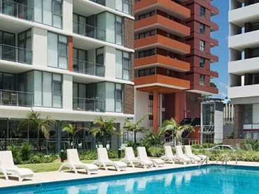 Macquarie Park Village featuring ExoTec cladding