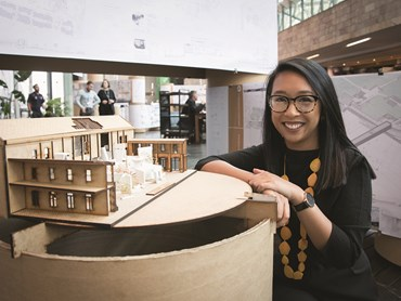 Deakin's School of Architecture and Built Environment is currently holding its annual student exhibition at Federation Square from 5 to 9 November, before moving to the gallery at Deakin's Geelong Waterfront Campus from 13 to 23 November. Image: Melisa Santos / Photo credt: Donna Squire
