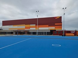 Multi-coloured Kingspan panels on Eagle Stadium create iconic landmark in Werribee