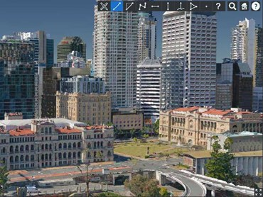 MetroMap 3D web interface – Brisbane CBD