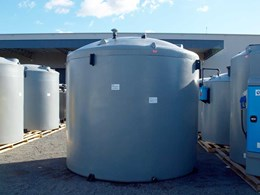Custom tank designed to store fire retardant foam at Melbourne Airport