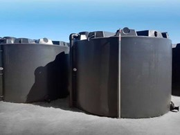 Polymaster customises water storage solution for Santos with two 50kL industrial PE tanks