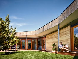A simple rammed earth extension fit for family life