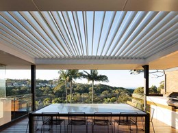 Extending living spaces with a Vergola