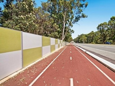SlimWall acoustic wall along the shared pathway on Safety Bay Road