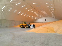 Spantech installs wide span roofs on three major grain storage facilities for ABB Grain