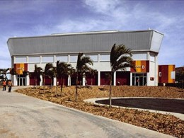 2 sports complexes in Port Moresby, PNG feature Rodeca translucent facade systems