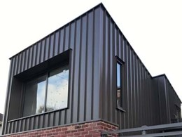 Snap-fix Archclad Cliptray 48 panels installed at Brunswick home extension