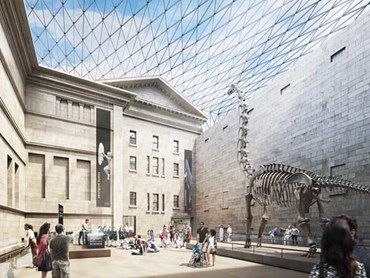The proposed redevelopment of the Australian Museum, masterplanned by Hames Sharley, will include a grand hall in the middle of the site. Image: Australian Museum