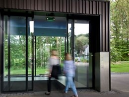 Automatic sliding doors for pedestrian entrances