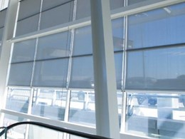 Adelaide Airport resolves sun, glare and heat problems with motorised roller blinds
