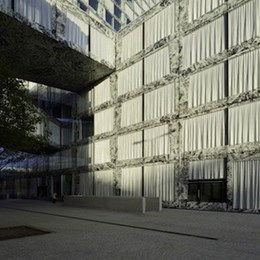 Wiel Arets clads Zurich's Allianz HQ in abstract pattern of Onyx marble