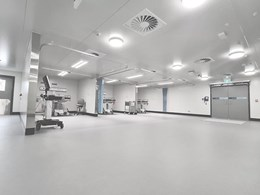 Altro flooring installed into temporary COVID 19 clinic