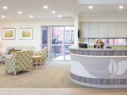 Tarkett flooring with organic patterns creates calming vibe at aged care village