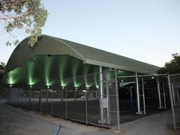 Spantech dome covers multipurpose sports courts at St Andrews Lutheran College, Qld