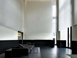Prestigious Milan apartment foyer features Kaynemaile hanging screen