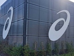 Perforated metal panels strengthen green wall and brand at new ASICS Oceania HQ
