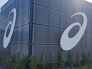 The new ASICS Oceania headquarters featuring perforated metal panels from Arrow Metal